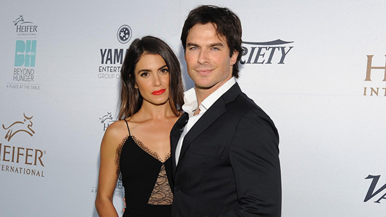 Ian Somerhalder With His Wife