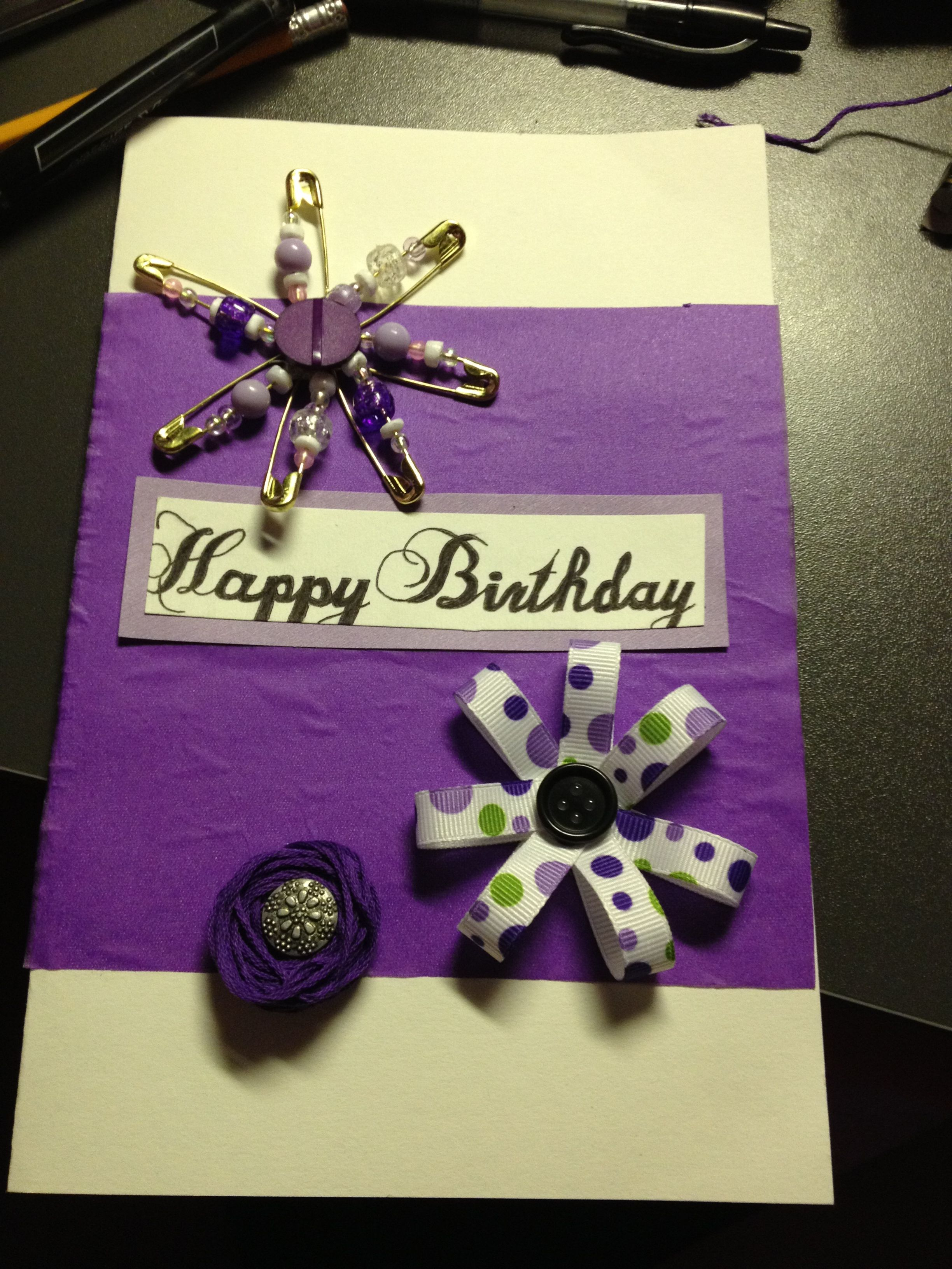 Images Of Homemade Birthday Cards