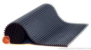Rubber Mat Deep Cleaning Ribbed